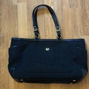 Coach black baby bag